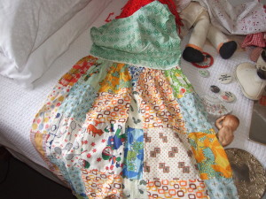 I also kept this patchwork dress my great-grandmother made me when I was 5. Irreplaceable.