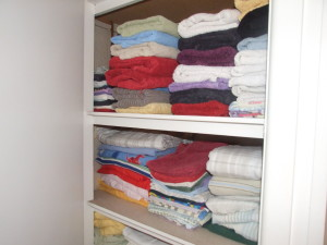 My linen cupboard… isn't it tidy!!!!